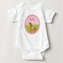 Pink Farm Animal Baby T-Shirt