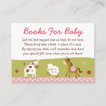 Pink Farm Animal Book Request Cards
