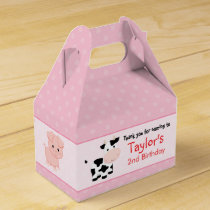 Pink Farm Birthday Party Favor Box (Girl)