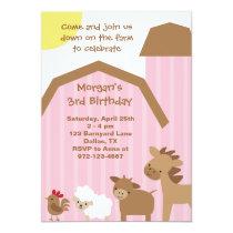 Pink Farm Invitation