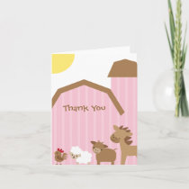 Pink Farm Note Cards