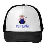 Pink Farmer Pig Blue Pig Farmer Mesh Hat