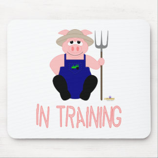 Pink Farmer Pig Pink In Training Mouse Pad