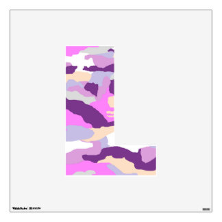 Pink Fashion Camo Wall Decal Letter L Medium