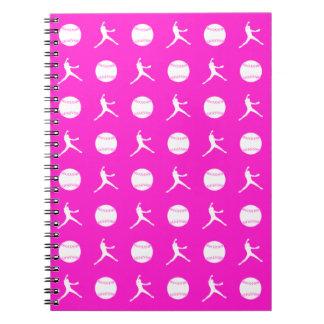 Pink Fastpitch Pattern Notebook