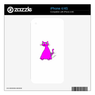 Pink Fat Cat Decal For iPhone 4
