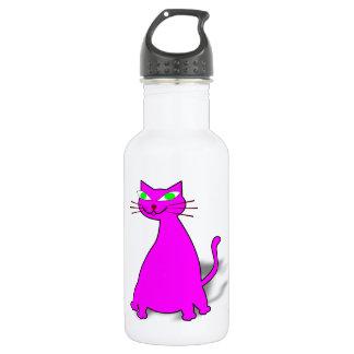 Pink Fat Cat Water Bottle