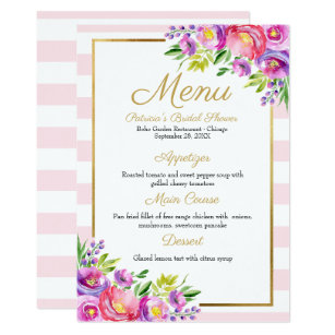 Dinner Party Menu Invitations Zazzle