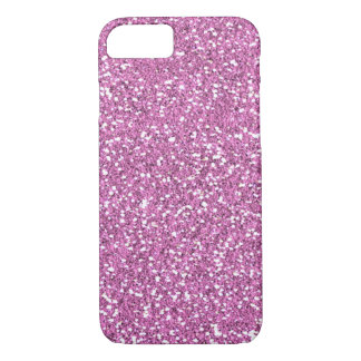 Pink Faux Glitter iPhone 7 case