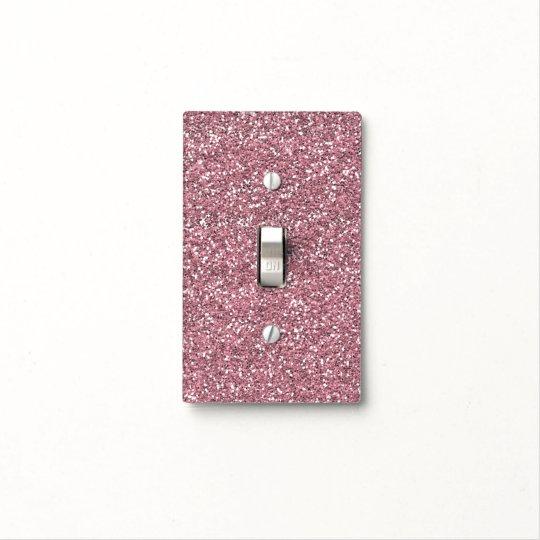 Pink Faux Glitter Light Switch Cover Zazzle Com