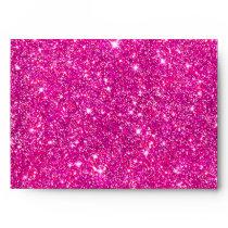 Pink Faux Glitter Shining Pattern Girly Envelope