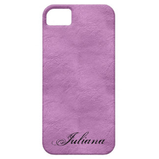 Pink Faux Leather look Pattern iPhone 5 Case