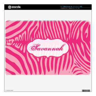 Pink Faux Zebra Skin MacBook Air Skin