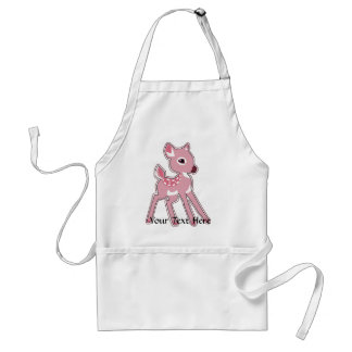 Pink Fawn Apron