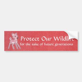 Pink Fawn Bumper Sticker