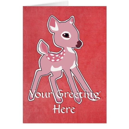 Pink Fawn Greeting Card