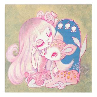 Pink Fawn Heaven Acrylic Wall Art
