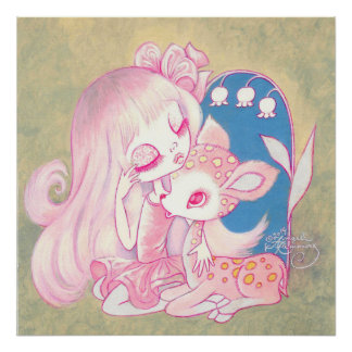 Pink Fawn Heaven Poster