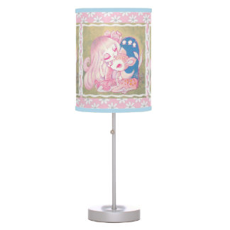 Pink Fawn Heaven Table Lamp