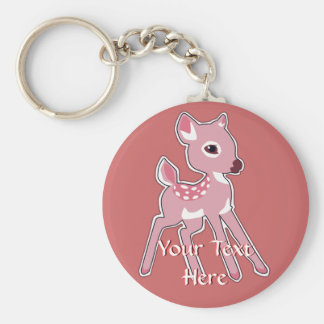 Pink Fawn Keychain