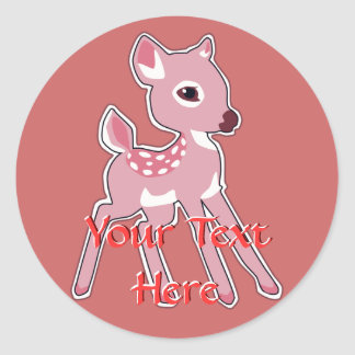 Pink Fawn Stickers