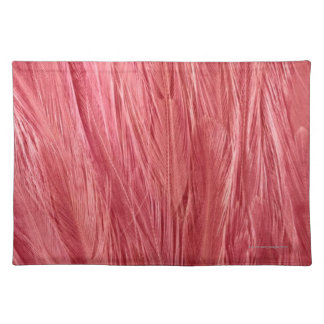 Pink Feathers Cloth Placemat