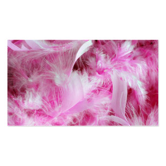 PInk Feathers Double-Sided Standard Business Cards (Pack Of 100)