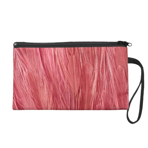 Pink Feathers Wristlet Clutch