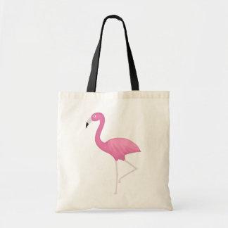 pink feathery flamingo tote bag