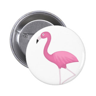 pink feathery flamingo pinback buttons