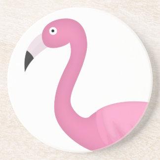 pink feathery flamingo coasters