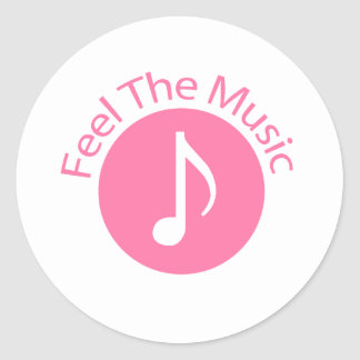 Pink - Feel the Music Stickers