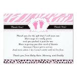 Pink Feet Leopard Cheetah Thank You Card
