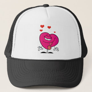 Pink Female Heart In Love Trucker Hat
