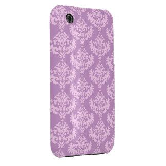 Pink Feminine Damask Pattern Case-Mate iPhone 3 Case