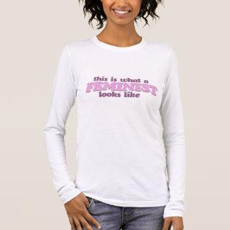 Pink Feminism Long Sleeve T-Shirt
