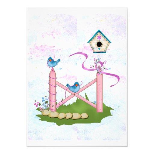 Pink Fences Invitation