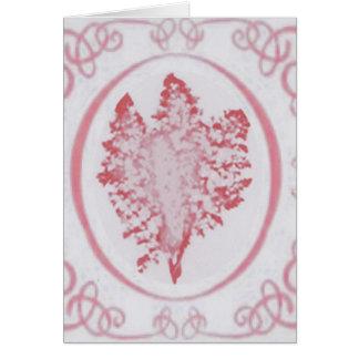 Pink Fennel Sprig Note Card