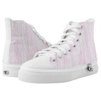 Pink Fiber High-Top Sneakers