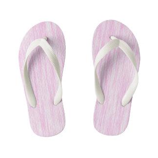 Pink Fiber Kid's Flip Flops