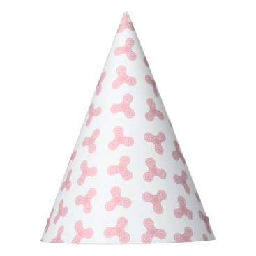 Beach Themed Pink Fidget Spinners Design Party Hat