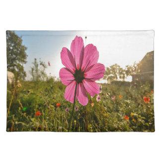 Pink Field Flower Cloth Place Mat