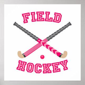 Pink Field Hockey Logo Print