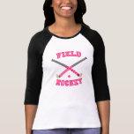 Pink Field Hockey Logo Tee Shirts