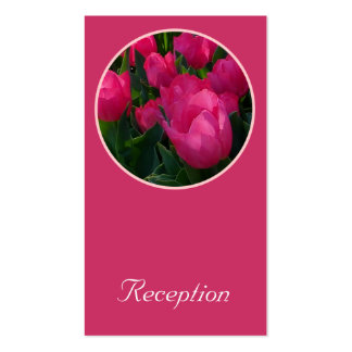 Pink Field of Tulips Reception Card