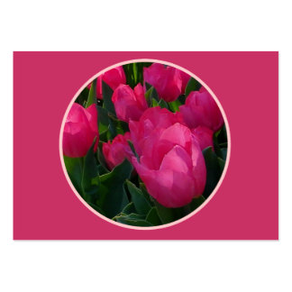 Pink Field of Tulips Wedding Place Cards