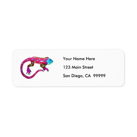 Pink Fiesta Lizard Label