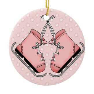 Pink Figure Skates Keepsake Ornament ornament
