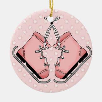 Pink Figure Skates Keepsake Ornament