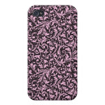 Pink Filigree iPhone4 Case Case For iPhone 4